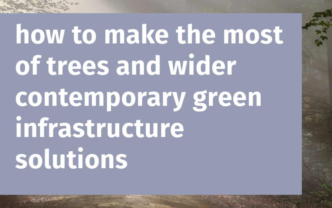 how to make the most of trees and wider contemporary green infrastructure solutions